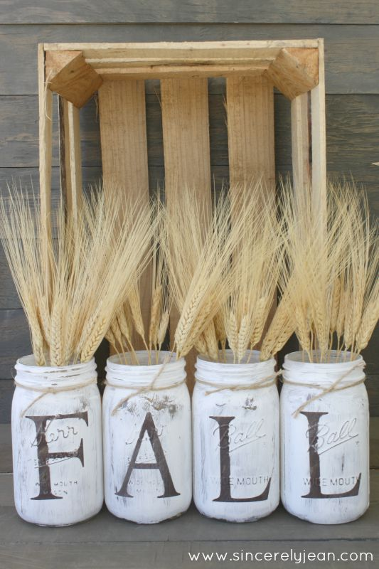 Fall Rustic Mason Jar | Timeless Rustic Decor For Fall