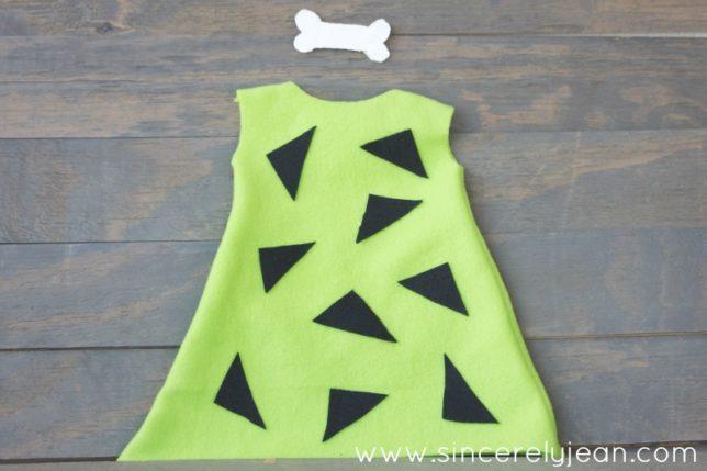 DIY Pebbles Flintstone Costume