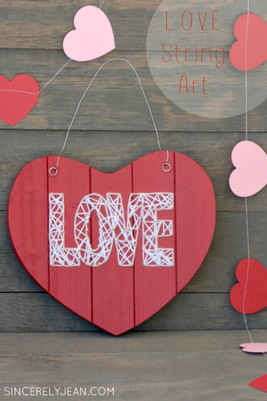 Valentine S Day String Art Craft Sincerely Jean