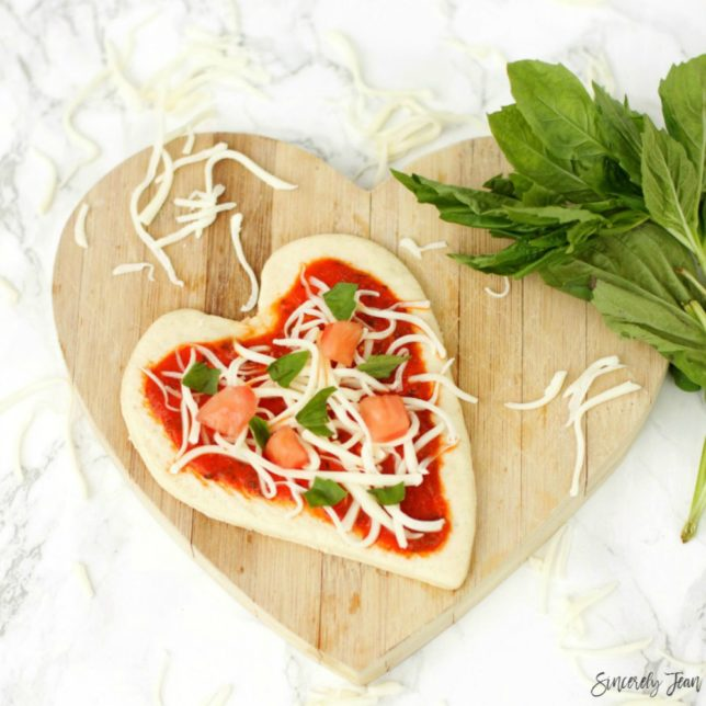 Heart Mini Margherita Pizzas