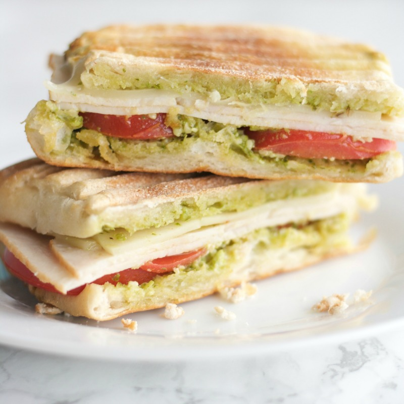 Turkey Pesto Panini- simple easy recipe sandwich