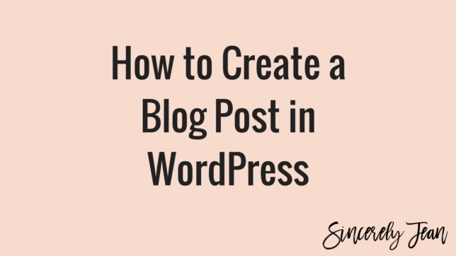 how to create blog post page