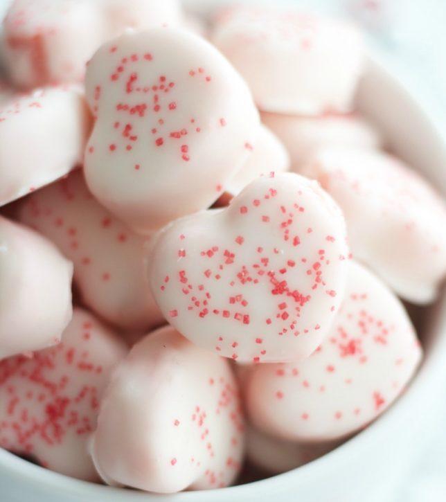 Valentines Heart Shaped Cake Bites