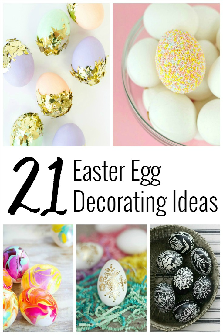 Unique Easter Egg Ideas - Egg Decorating ideas for Easter! | www.SincerelyJean.com
