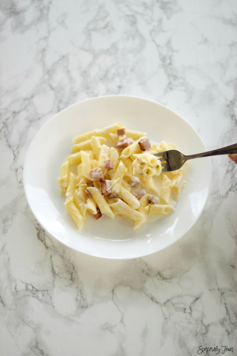 Five ingredient dinner recipes by SincerelyJean.com - Ham Penne Pasta