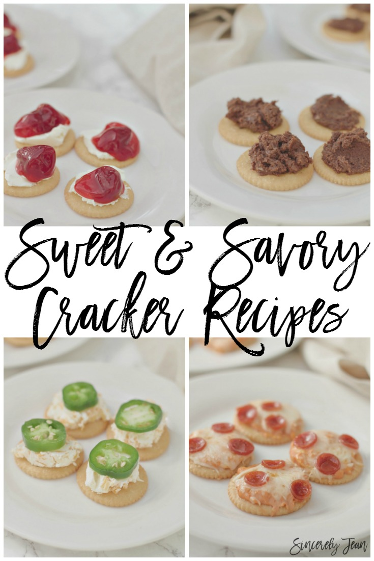 Sweet and Savory Cracker Recipes | www.SincerelyJean.com