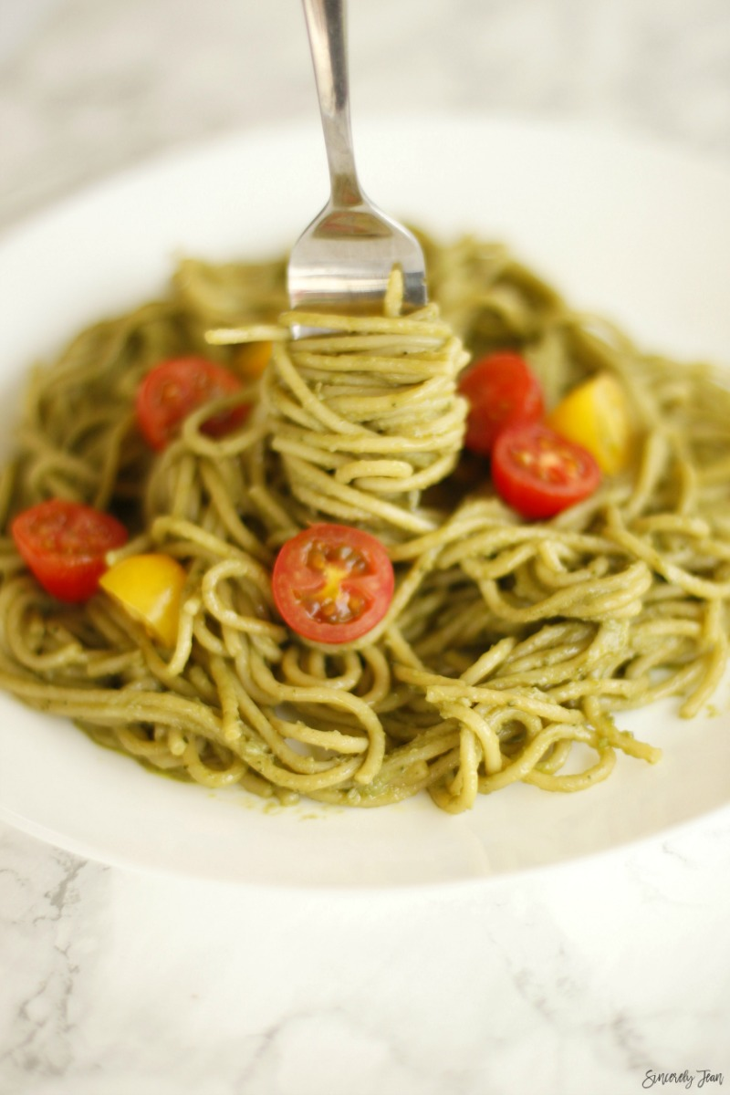 SincerelyJean.com five ingredient healthy pasta recipe!