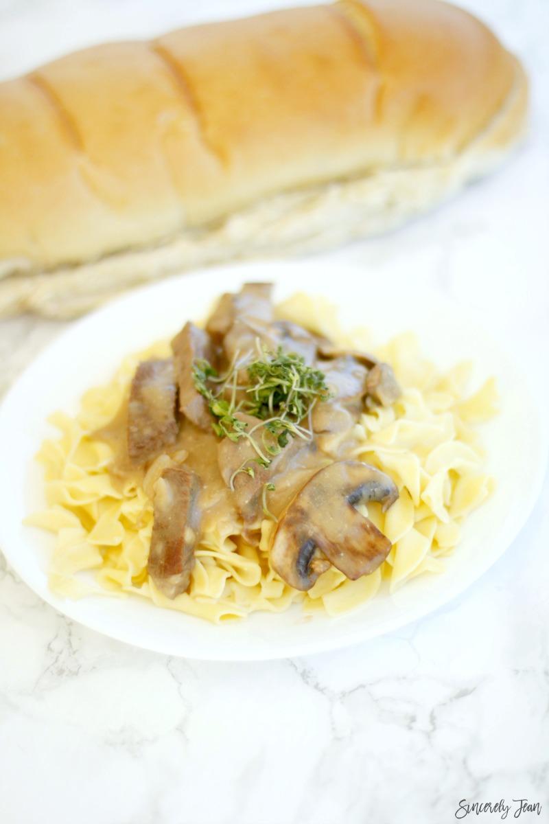 Beef Stroganoff made with Greek Yogurt - by SincerelyJean.com