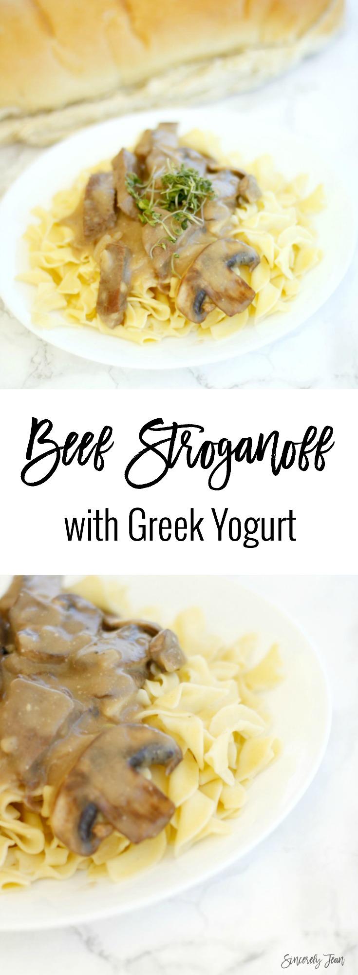 SincerelyJean.com beef stroganoff with greek yogurt