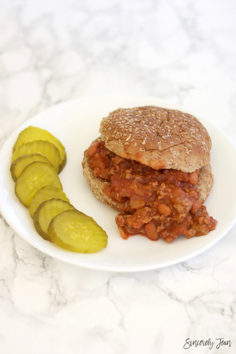 Healthy Turkey Sloppy Joes - SincerelyJean.com delicious recipes!