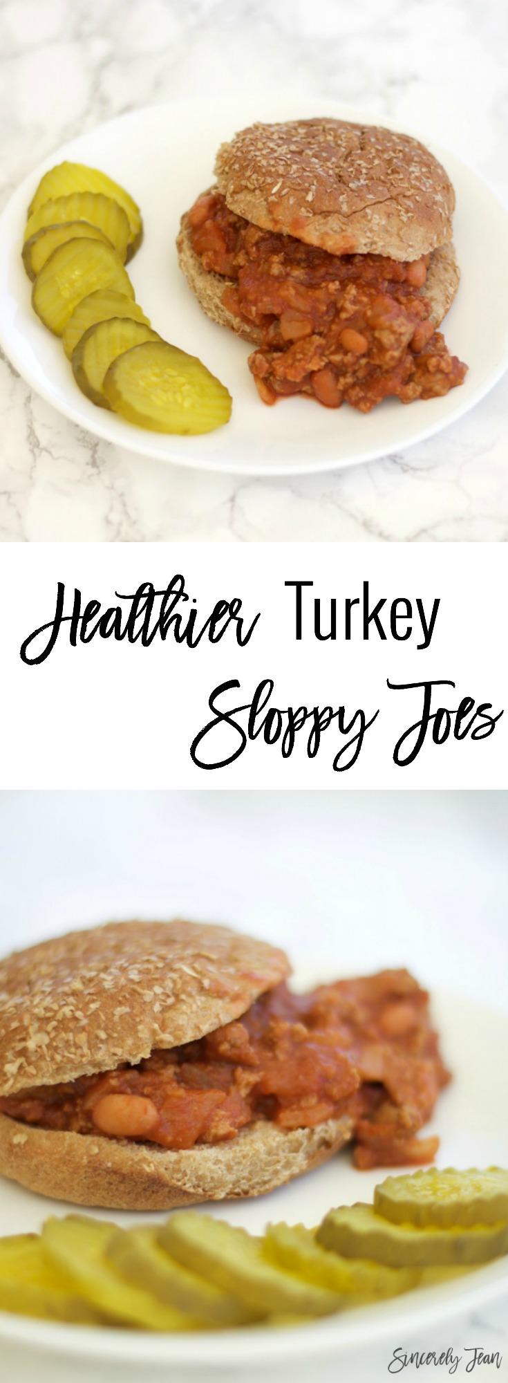 Turkey meat Sloppy Joes by SincerelyJean.com