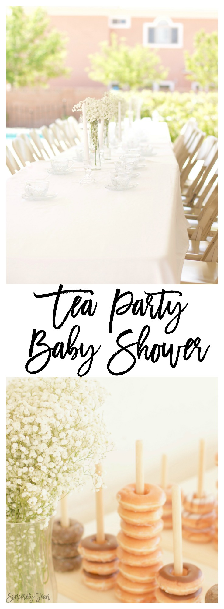Tea Party Baby Shower - baby shower, simple, garden party, baby