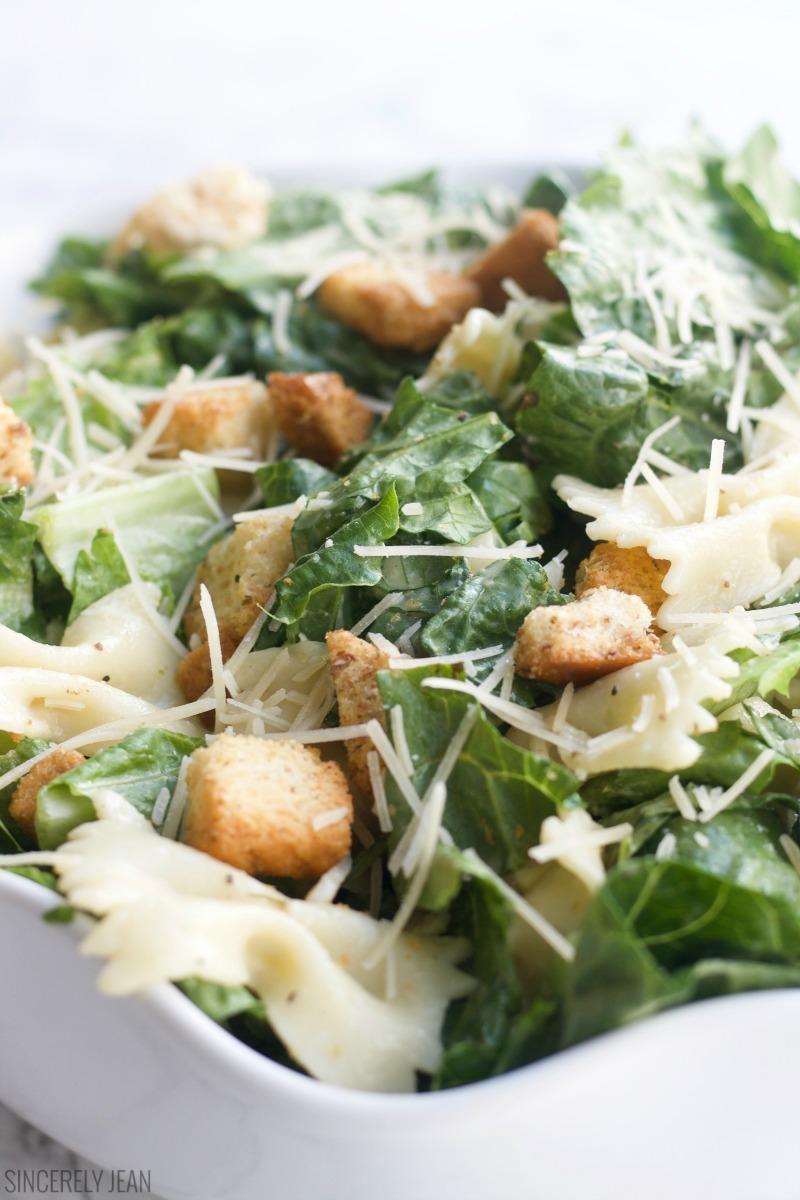 Bow Tie Caesar Salad summer, easy, simple, healthy