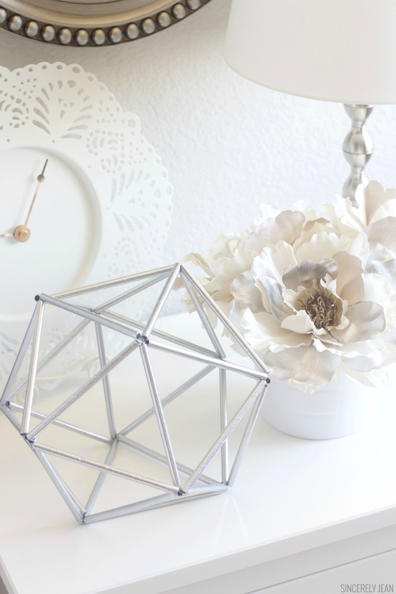 Diy geometric decor for 1 sincerely jean for Super cheap home decor