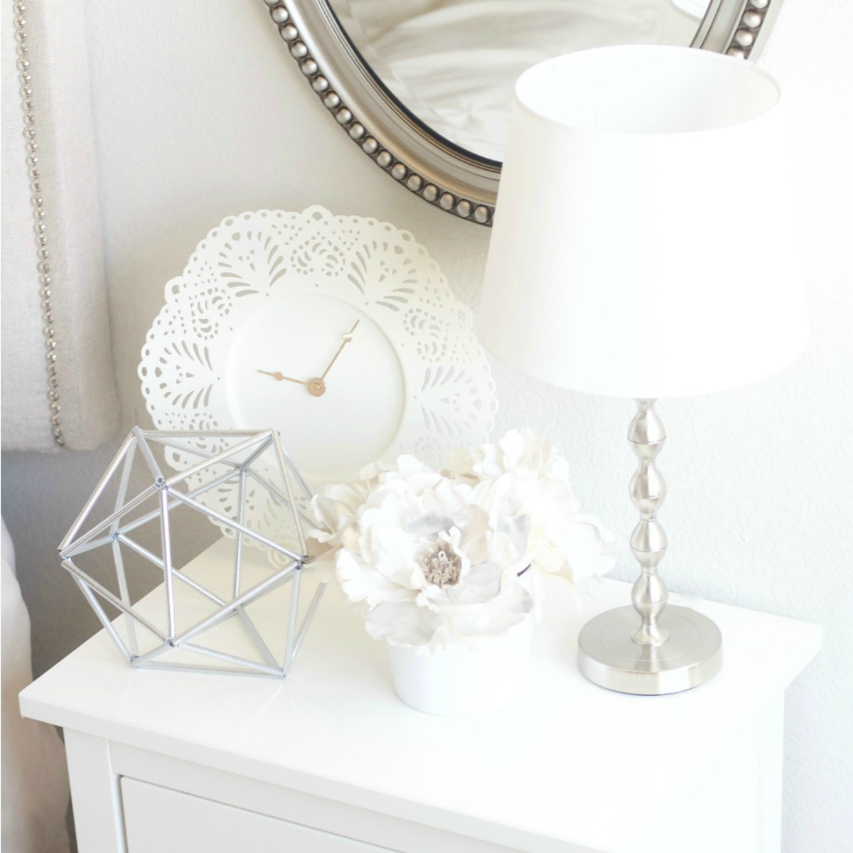 nightstand & decor on a budget - sincerely jean Nightstand Decor
