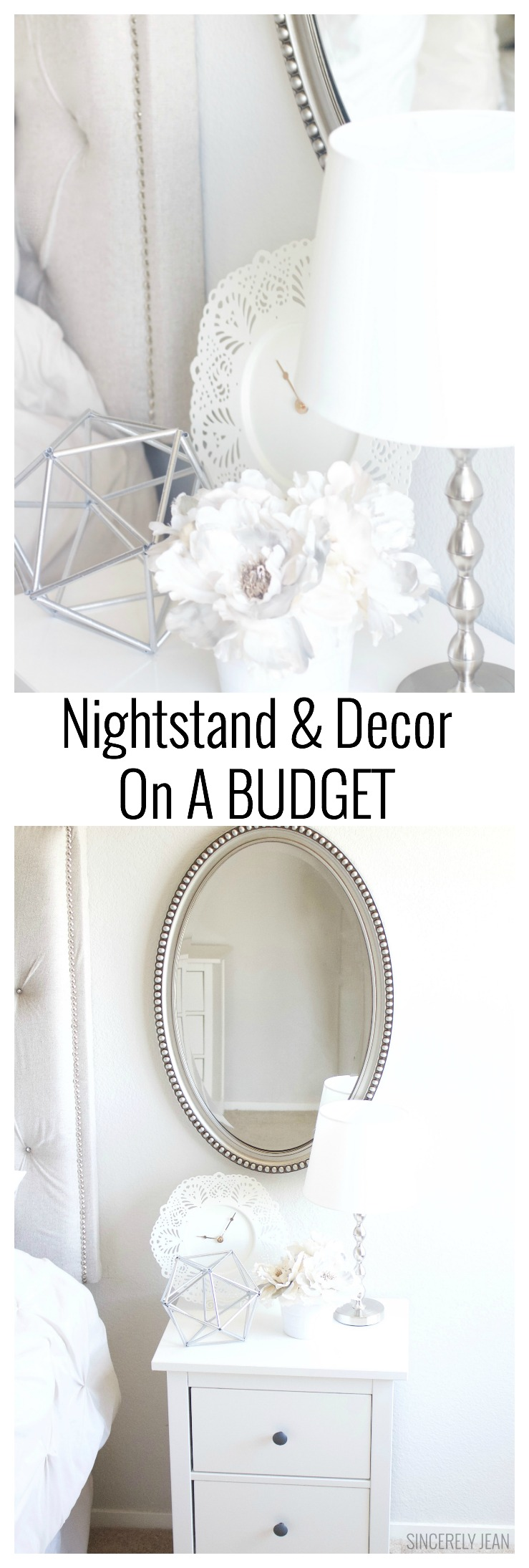 Nightstand & Decor on a Budget - home decor simple easy cheap ideas