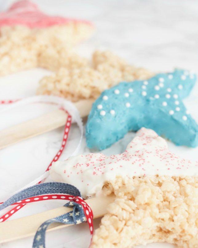 Rice Krispie Patriotic Stars