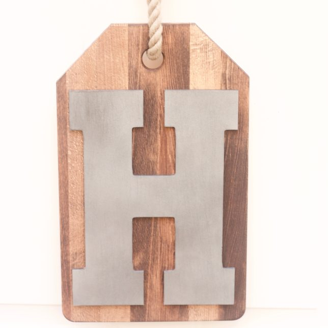 DIY Wood Monogram Door Hanger