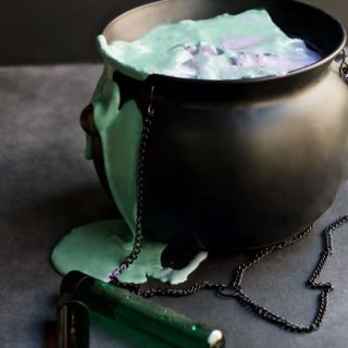 Witch's Potion Slime - DIY - craft - halloween - slime - kids craft - fall - green - purple- activity