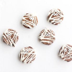 Mummy Brownies - recipe- halloween - diy - food - dessert - holiday - fun - kids - craft