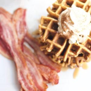 Pumpkin Spice Waffles, homemade, simple, easy, breakfast, pumpkin, recipe, bacon, holidays