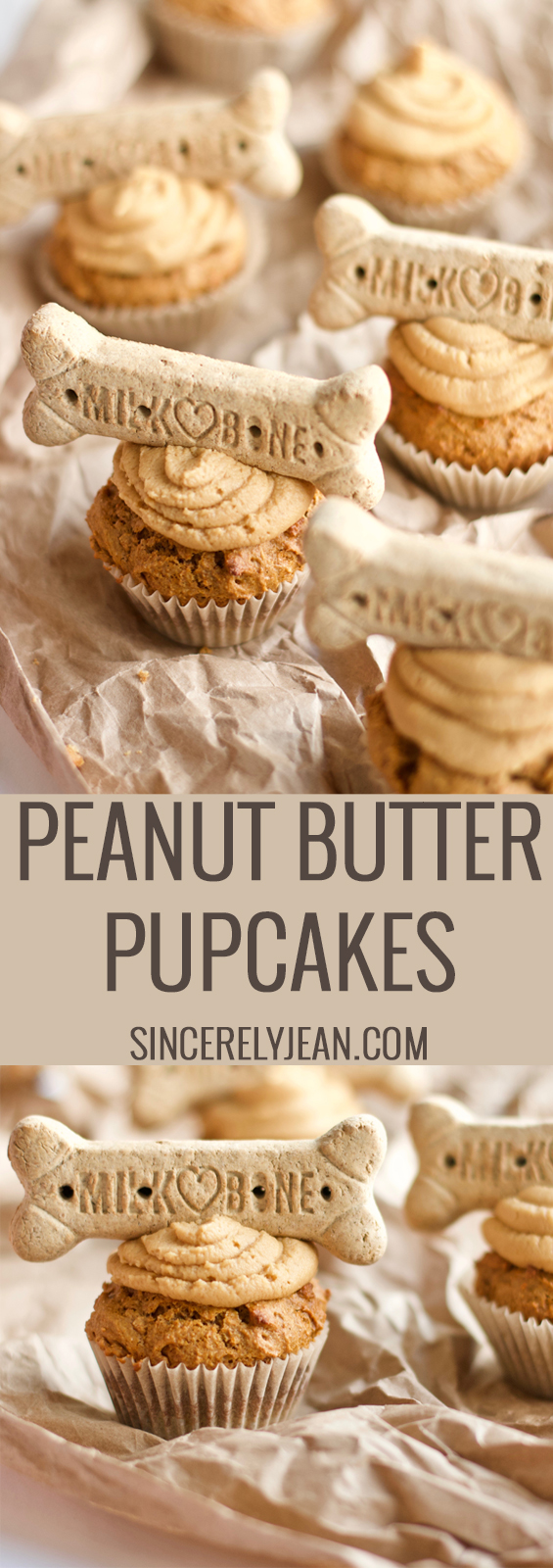 Peanut Butter Pupcakes are fun cupcakes to make for your dog. It's an easy recipe for a dogs birthday, he will love the dessert.