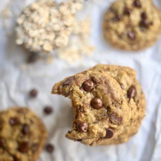 Pumpkin Oatmeal Chocolate Chip Cookies